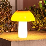 Solar Mushroom Lights Outdoor,2200mah 20Leds Waterproof Decorative Garden Solar Table Light,Brightness Adjustable Solar Post