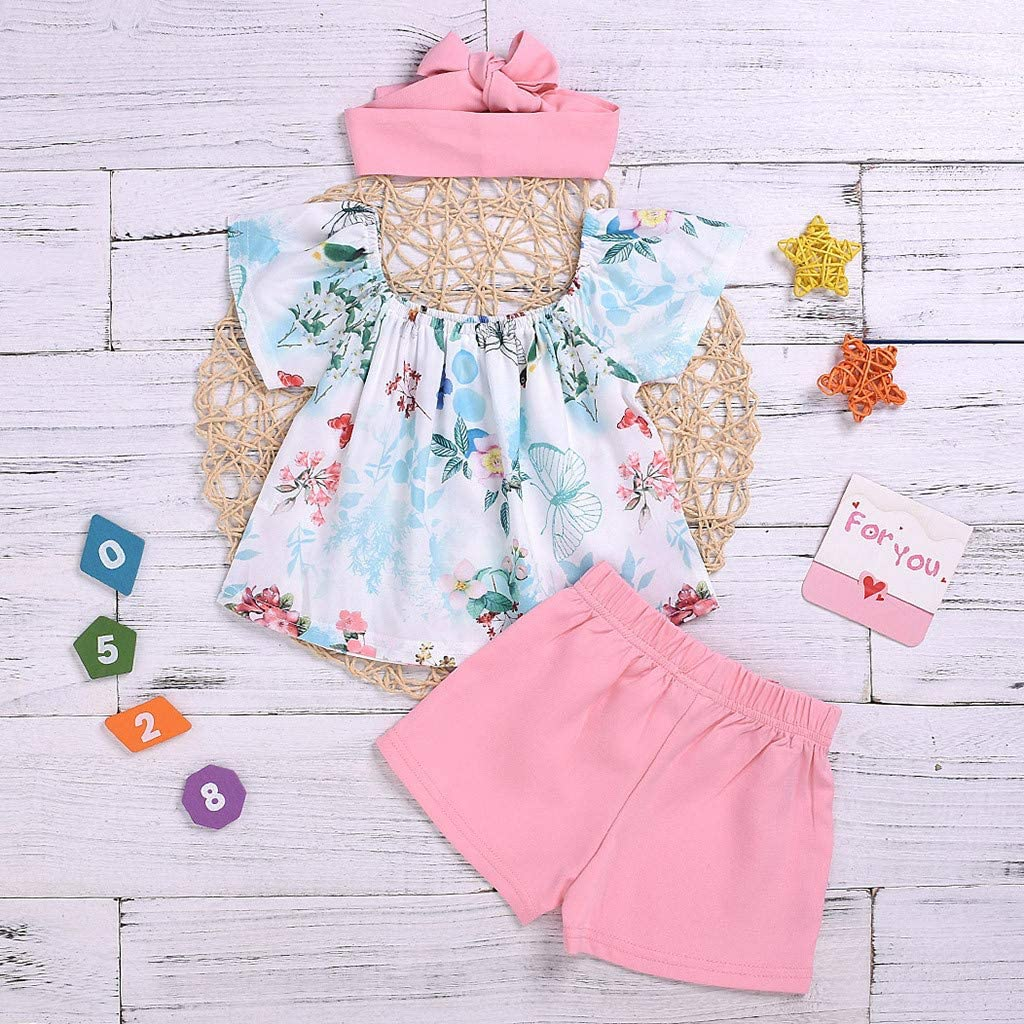 Summer New Style Baby Little Kids Girls Watermelon Slice Print Vest+Denim Shorts Outfits Sets for 0-3 T Jchen TM