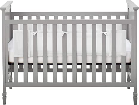 BreathableBabyBreathable Mesh Crib Liner for Solid-End CribsDoctorHelps