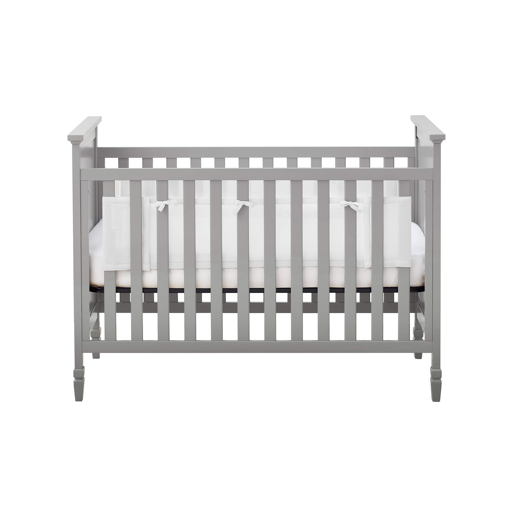 BreathableBaby Classic Breathable Mesh Liner for Solid End Cribs - White by BreathableBaby