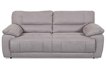 Sofa Couch Castello 3er Sofa Cleveland Braun Amazon De Kuche