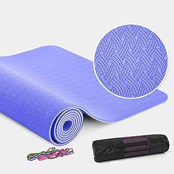 W-z-z TPE Yoga Mat Espesamiento De 8mm Fitness Mat ...