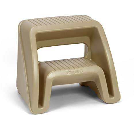 Cool Simplay3 Handy Home 2 Step Plastic Stool 16 In Tan Gamerscity Chair Design For Home Gamerscityorg