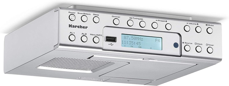 Karcher Ra 2030d Unterbauradio Mit Dab Ukw Radio Je 20 Senderspeicher Und Mp3 Wiedergabe Wecker Dual Alarm Countdown Timer Smartphone Ablage Usb Charger Fernbedienung Heimkino Tv Video