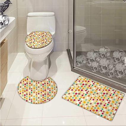 Amazon Carl Morris Beige Bath Toilet Mat Set Vertical Oval Beauteous Beige Tiled Bathrooms Set