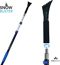 Twists onto Standard US Threaded Pole Perfect for Car Windshields /& Windows | | Easily Removes Frost EVERSPROUT Twist-On SnowBuster Ice Scraper 3//4-inch Acme Snow Ice Pole Not Included
