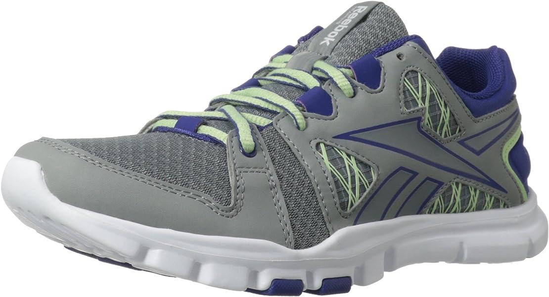 designer fashion 79334 ccafa Reebok Women s Yourflex Trainette RS 4.0 Cross-Training Shoe,Flat Grey Violet  Volt