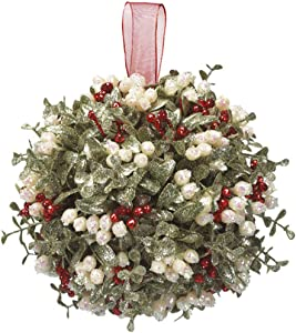 Door Décor Holly Mistletoe Kissing Ball - 7 Inch