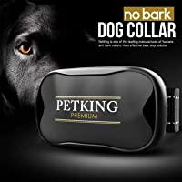 No Bark Dog Collar - Anti Bark Device for Small Medium Large Dogs | Stop Excessive Barking - No Shock or Spray | Safe & Humane Anti-Bark Aids | Harmless Beep + Vibration Anti-Barking Training Collars