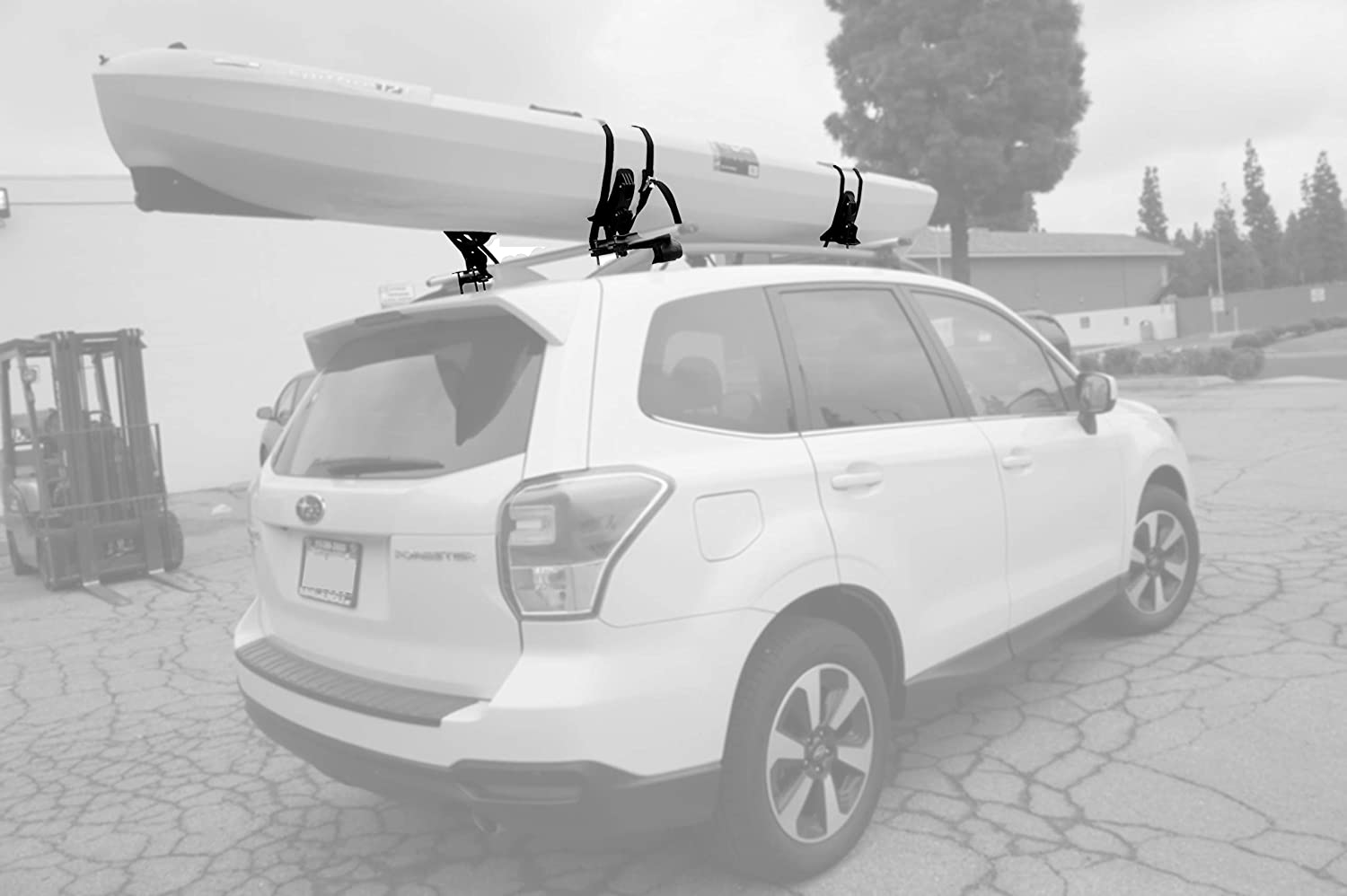 Car and Truck Surfboard and Ski Board Rooftop Mount on SUV Kayaks SUP DrSportsUSA Universal Foldable 2 Pairs J-Bar Kayak Rack Folding Car Roof Top Carrier for Canoe