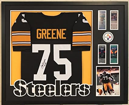 e1a725bf1 Image Unavailable. Image not available for. Color  Framed Joe Greene  Autographed Signed Insc Pittsburgh Steelers Jersey - JSA Authentication