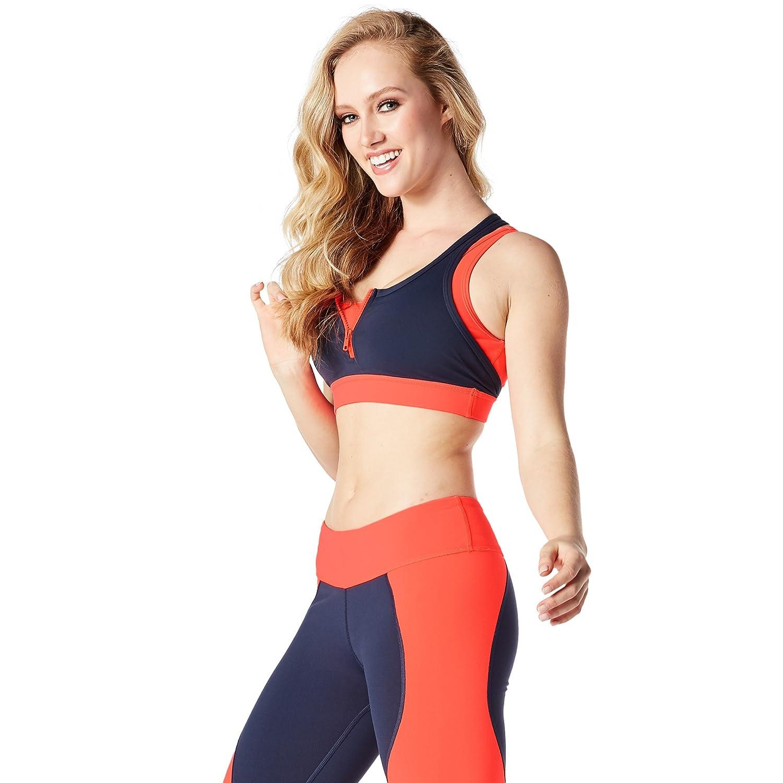 Zumba Fitness® Team Zumba Sujetador Deportivo para Mujer, diseño con Cremallera: Amazon.es: Deportes y aire libre