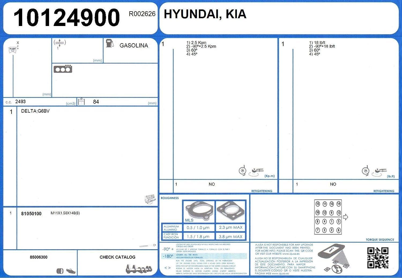 Ajusa Cylinder Head Gasket 10124900