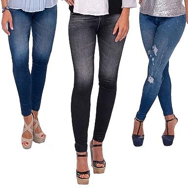 9e6e4022c8460 3 x Thane Slim N Lift Caresse Jeans Skinny Seamless High Waist Jeggings   Amazon.co.uk  Clothing