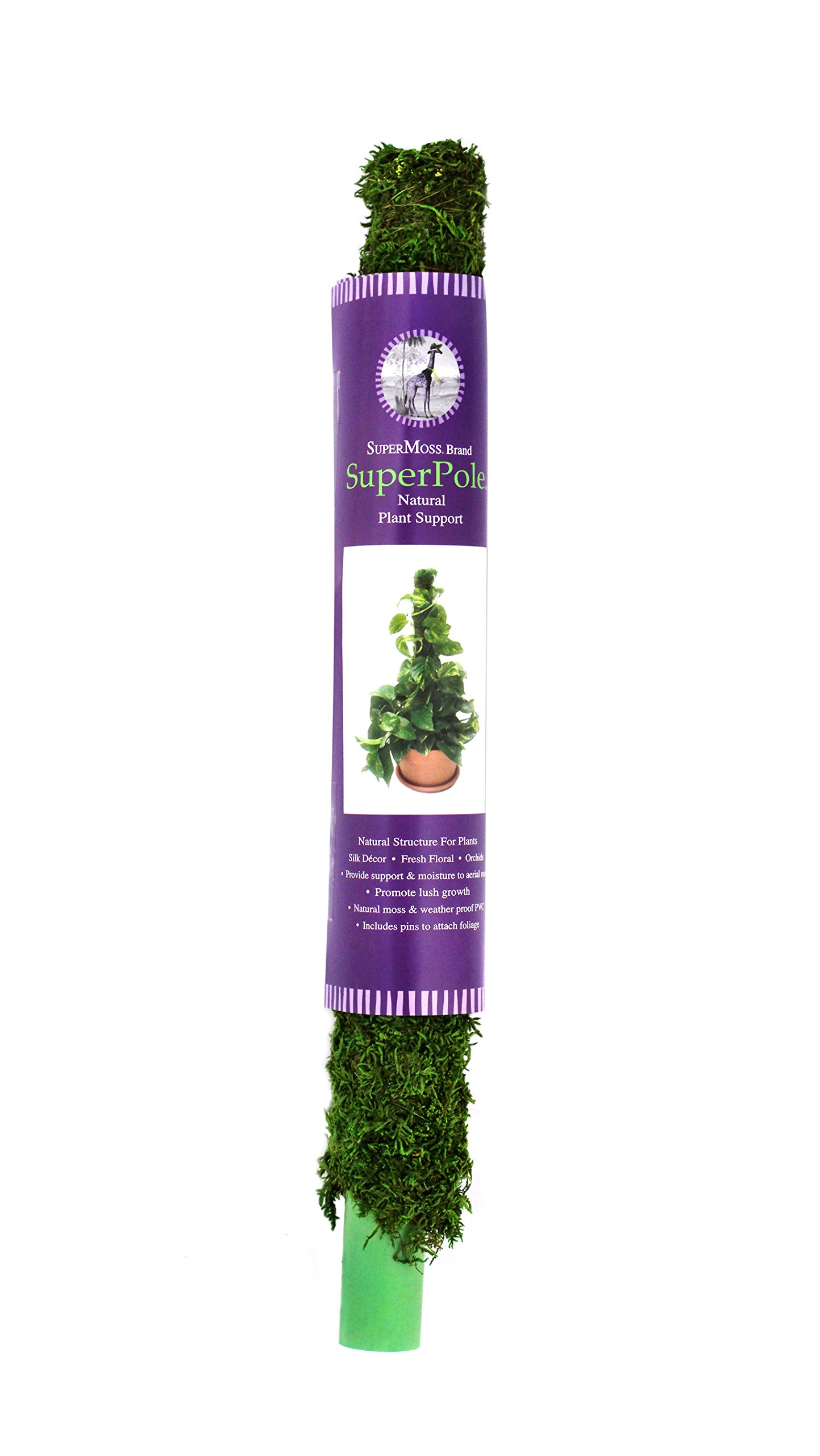 Supermosss Moss Poles Preserved Fresh Green 4684cuin