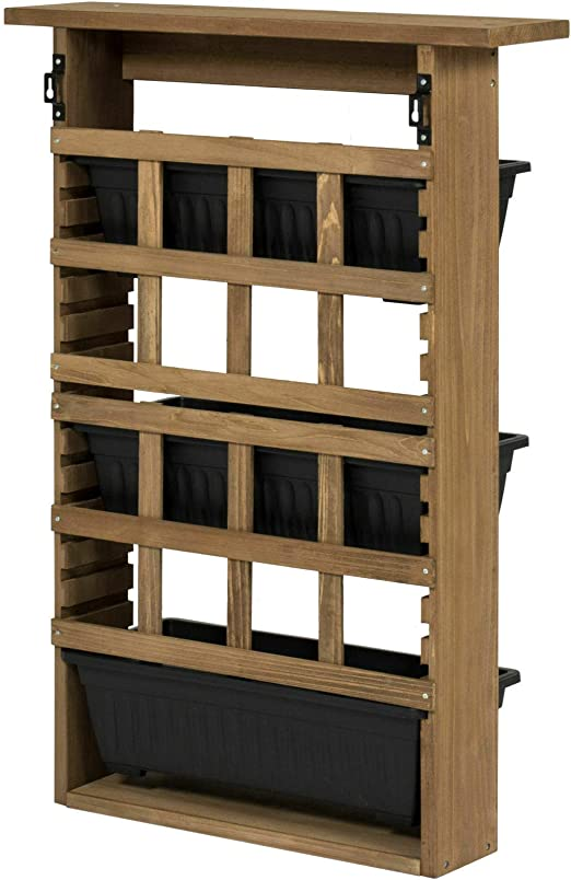 Boxlike9 Shop - Macetero de madera con 3 niveles verticales: Amazon.es: Jardín