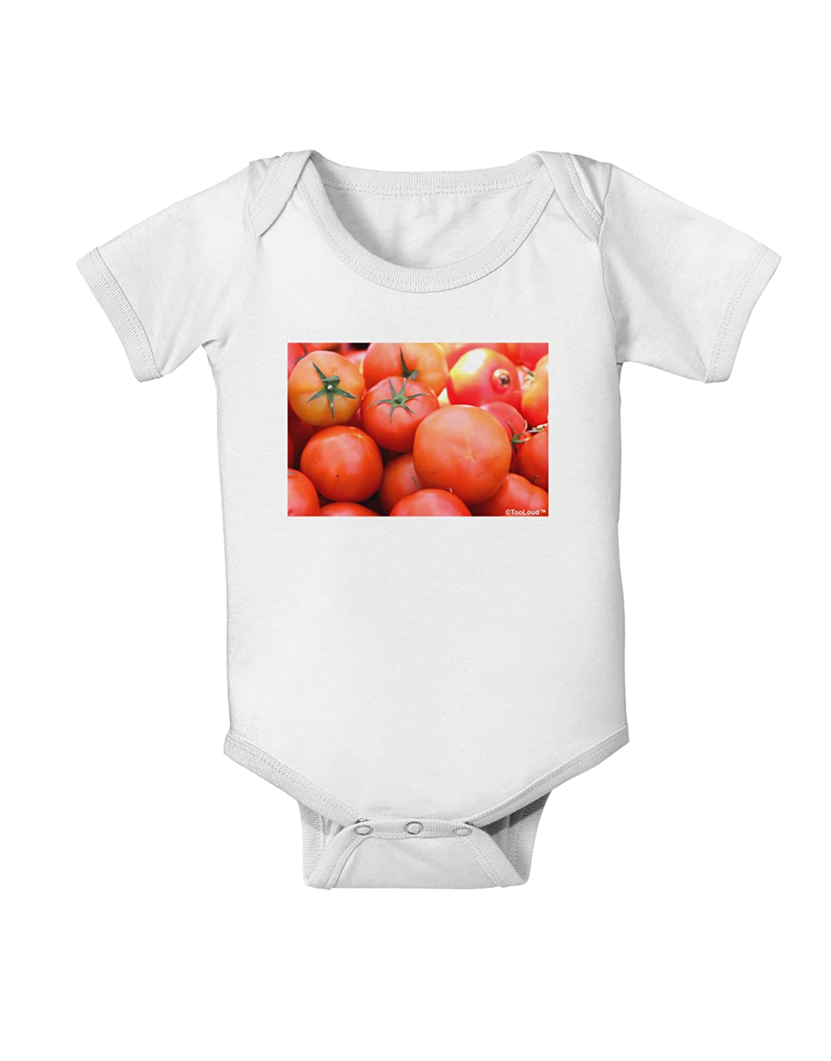TooLoud Buy Local Produce Tomatoes Baby Romper Bodysuit