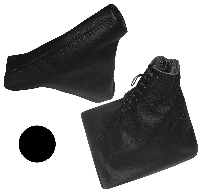 Aerzetix - Cuffia leva cambio e freno a mano di 100% vera pelle nero con cuciture nero . NIK-ASTRAH-MSK-MR-BLACKST-OP