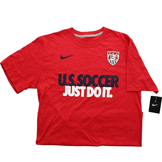 Nike Men's US National Team Pride Soccer Just Do It Tee Shirt Red 658579  (2XL