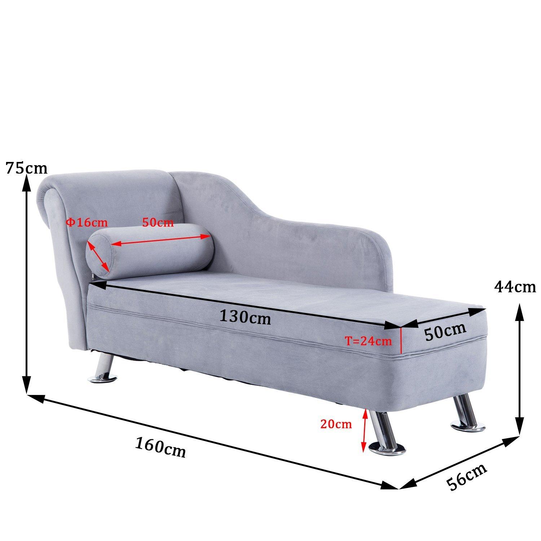 Banqueta meridiana, sofá acolchado, sofá con cojín redondo ...