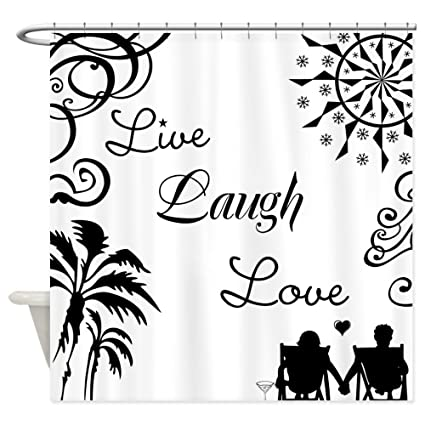 Image Unavailable Not Available For Color CafePress Live Laugh Love Shower Curtain