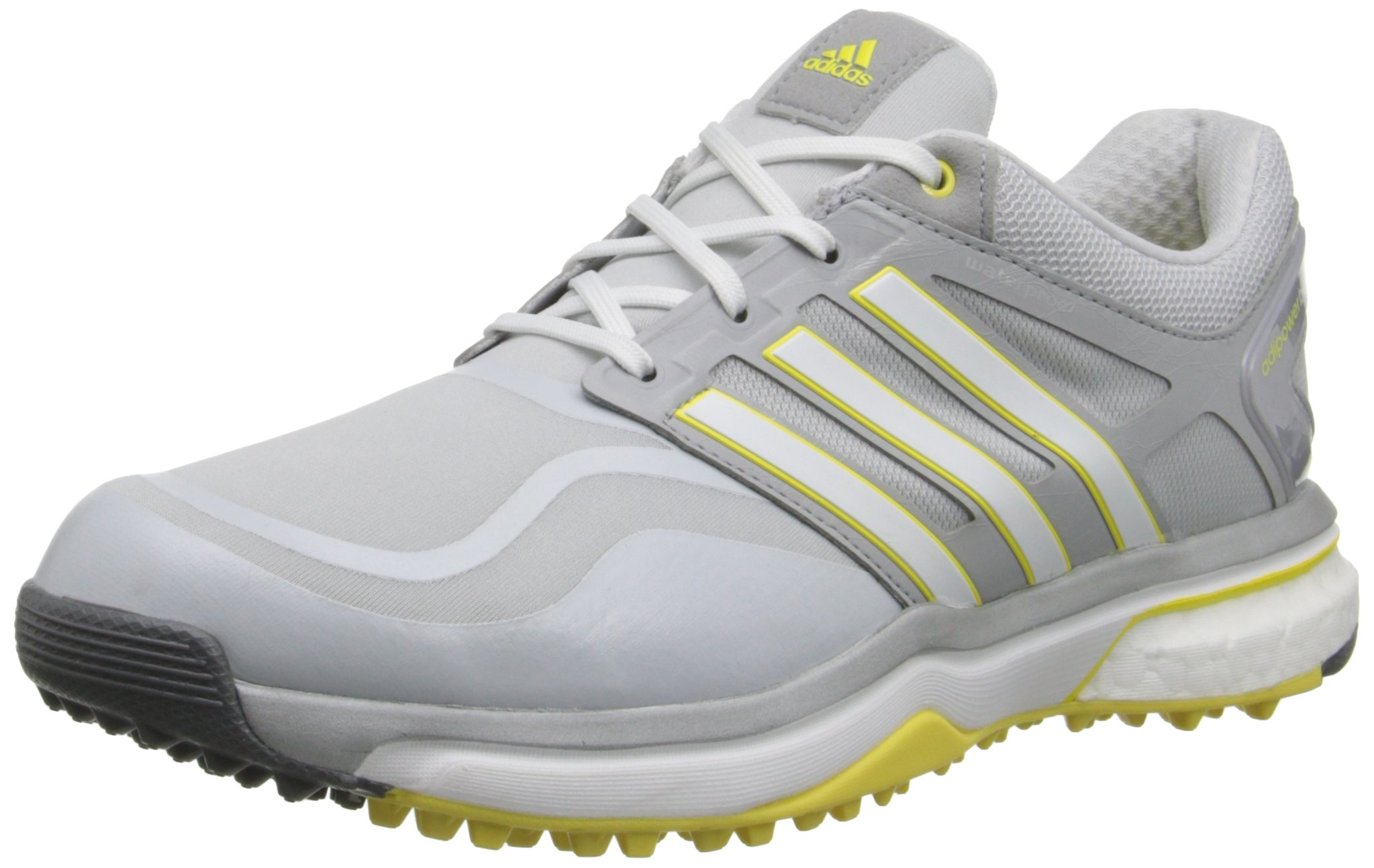 adidas Women's W Adipower S Boost Golf Shoe, Clear Grey/Running White/Light Yellow, 8.5 M US by adidas