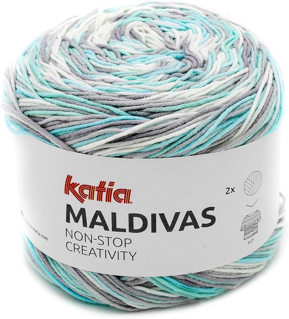 150 g Bobbel 86 Katia Maldivas FB Hilo de Mezcla de algod/ón