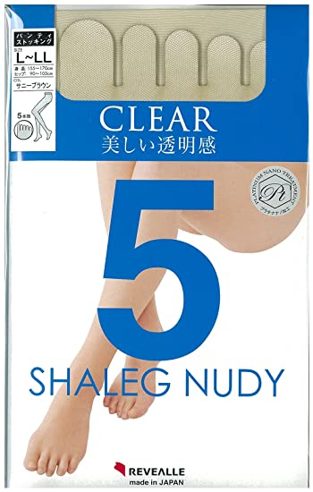 859c5b5d45a7a REVEALLE Five Toe Pantyhose, Tights Double Covered Yarn Support, Sunny  Brown L-LL made in Japan at Amazon Women's Clothing store: