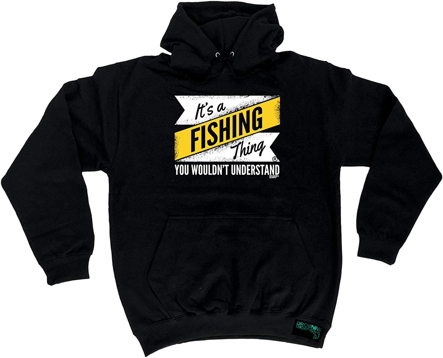 Hook Line And Sinker Drowning Worms SWEATSHIRT jumper birthday gift funny fish