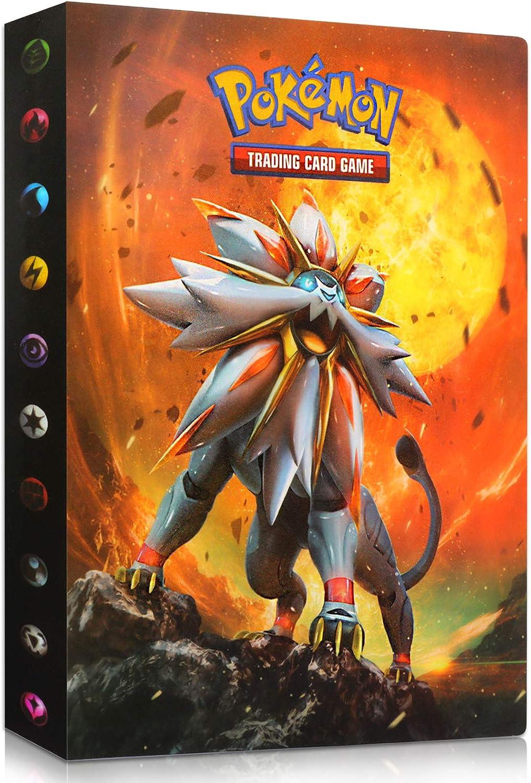 Sun/&Moon Sinwind Classeur pour Pokemon Pokemon Cartes Album Capacit/é de 240 Cartes pour Pok/émon Commerce Cartes GX EX bo/îte Porte Carte Pokemon Livre Carte Pokemon