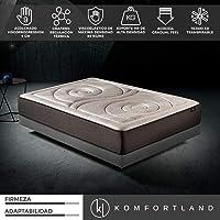 Komfortland Colchón viscoelástico Memory Platinum de 9 cm de ViscoProgression Grafeno de Alta Densidad (85 kg/m3) de Altura 27 cm