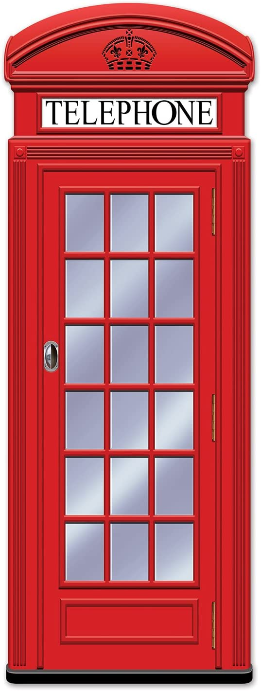 Beistle Jointed Phone Box, 5-Feet
