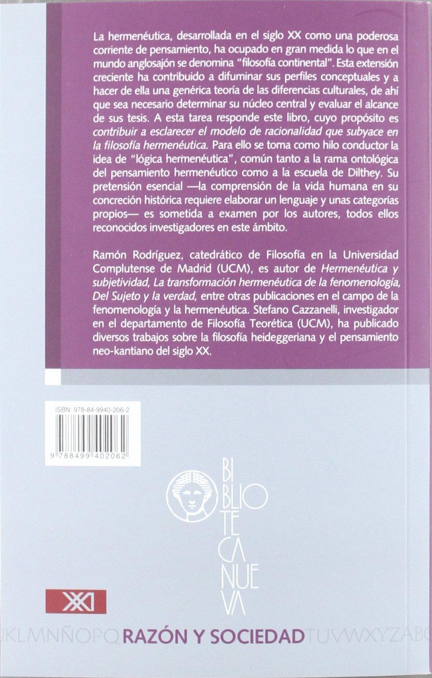 Lenguaje y categorías en la hermenéutica filosófica Razón y Sociedad: Amazon.es: Ramón Rodríguez García, Stefano Cazzanelli: Libros