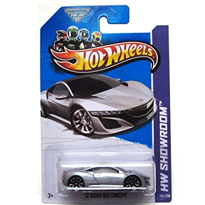 Hot Wheels 2013 HW Showroom '12 2012 Acura NSX Concept Silver: Toys & Games