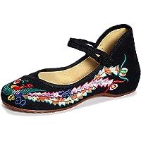 Meta-U Zapatos bordados para mujer - Cuña
