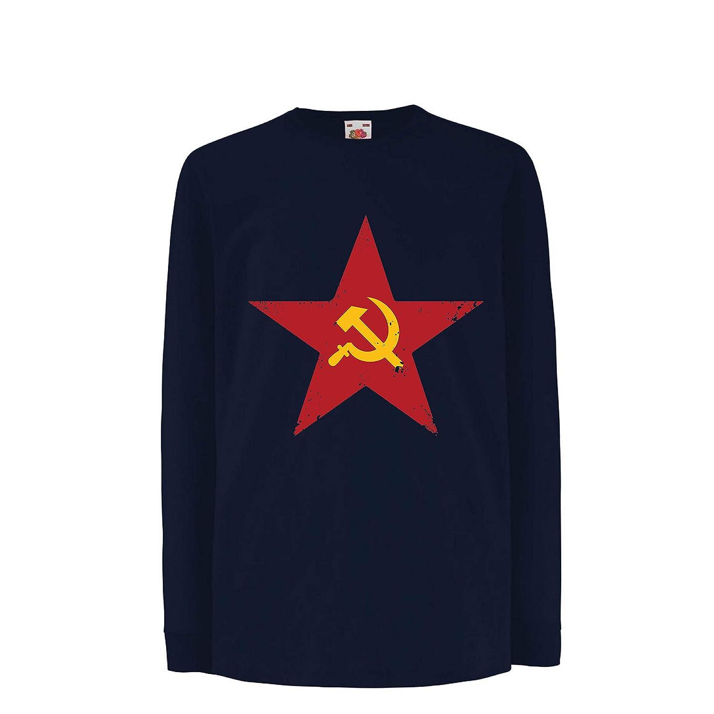 lepni.me Camiseta para Niño/Niña URSS СССР La Hoz y el ...