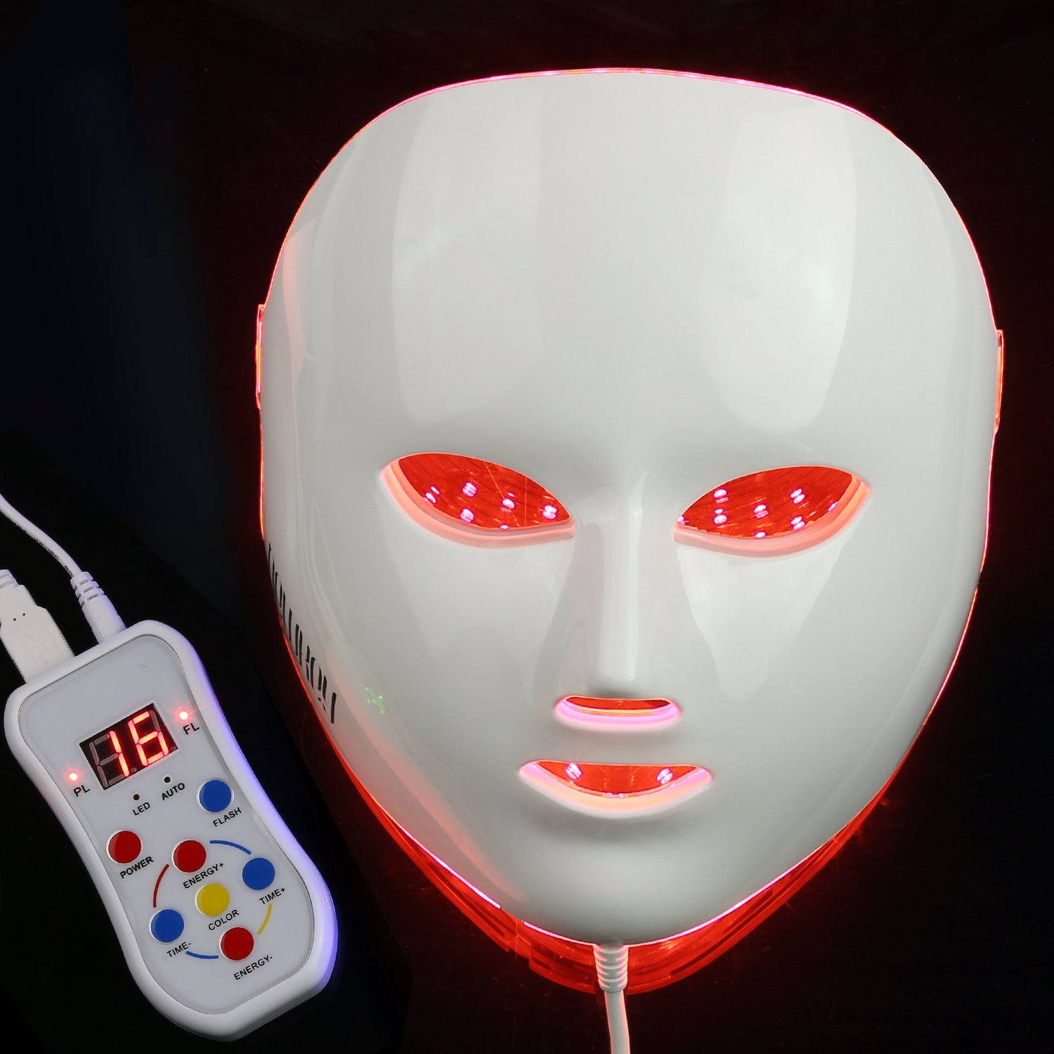 NEWKEY LED Photon Light Therapy Facial Mask Professional Anti Aging Skin Care Device for Face Whitening and Smooth - 1 YEAR WARRANTY by NEWKEY (Image #2)