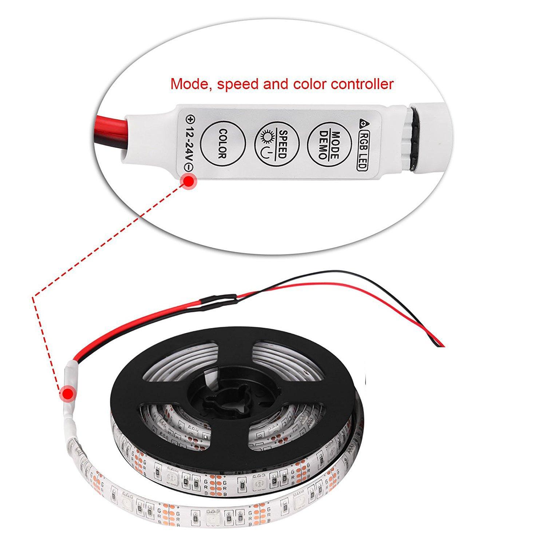 LemonBest® RGB LED Streifen 5050 SMD Licht Band Leiste ...