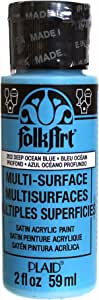 FolkArt Multi-Surface Paint in Assorted Colors (2 oz), 2922, Deep Ocean Blue