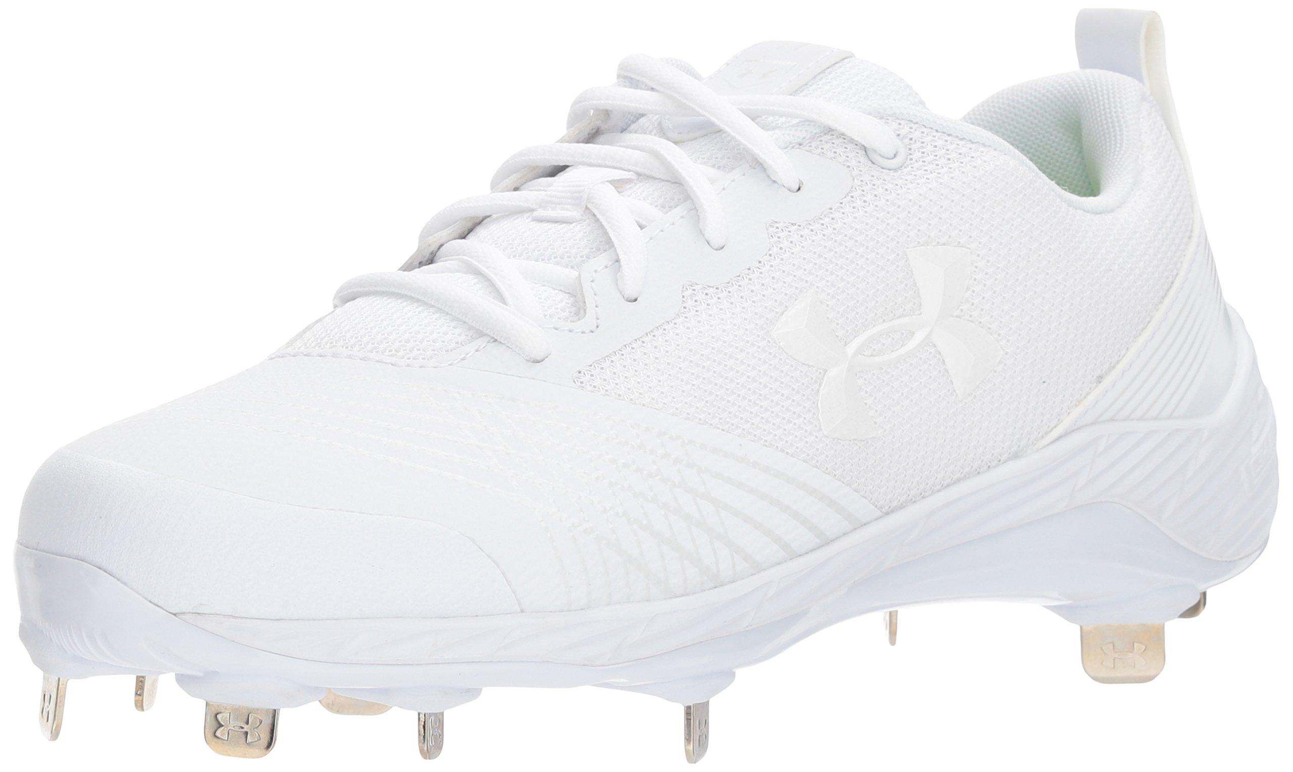 Under Armour Women's Glyde ST Softball Shoe, White (100)/White, 9