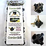 Pack of 8 + 16 Clamps Clips Garden Skill Fruit Cage Build a Ball Cane Ball Connector / Joiner -