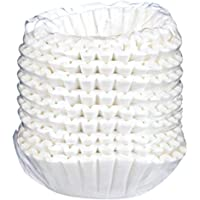 """Large 12 Cup Coffee Filters - 9.5"""" x 4"""" - Commercial Coffee Filters for Pour Over, Drip or Airpot Brewers - Perfect Fit, No Ground Overflow, Better Brew - (500 Count Bulk Pack)"""