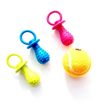 HC juguete chupete para perro mascota (3 unidades)una pelota de regalo