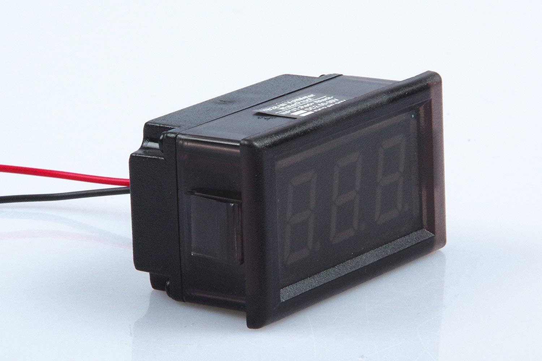 Waterproof Monitor 2-Wires DC 3.5-150v 12v 24v 36v 72v 96v Volt Battery Meter Voltage Tester Automative Electric Cars Gauge Small Digital Voltmeter BLUE 0.52'' LED Display by TOFKE (Image #4)