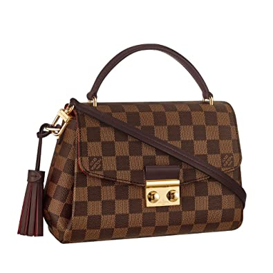 2bfd4a0d57a3 Louis Vuitton Damier Ebene Canvas Croisette Hand Carry Shoulder Handbag  Article:N53000 Made in France: Handbags: Amazon.com