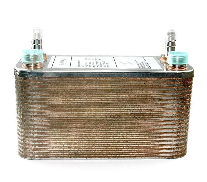 40 placas de intercambiador de calor y enfriador de palabra. 40 platos de cobre brasileño, enfriador de cerveza de acero inoxidable, R 1/2