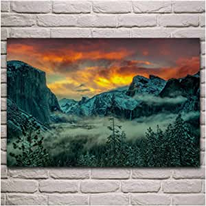 YKing1 Winter Forest Sunset Sky Colors Nature Landscape ...