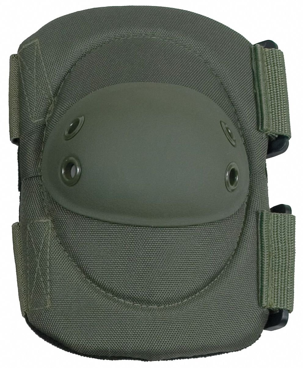 Hard Shell 2-Strap Elbow Pads, Olive Drab, Universal