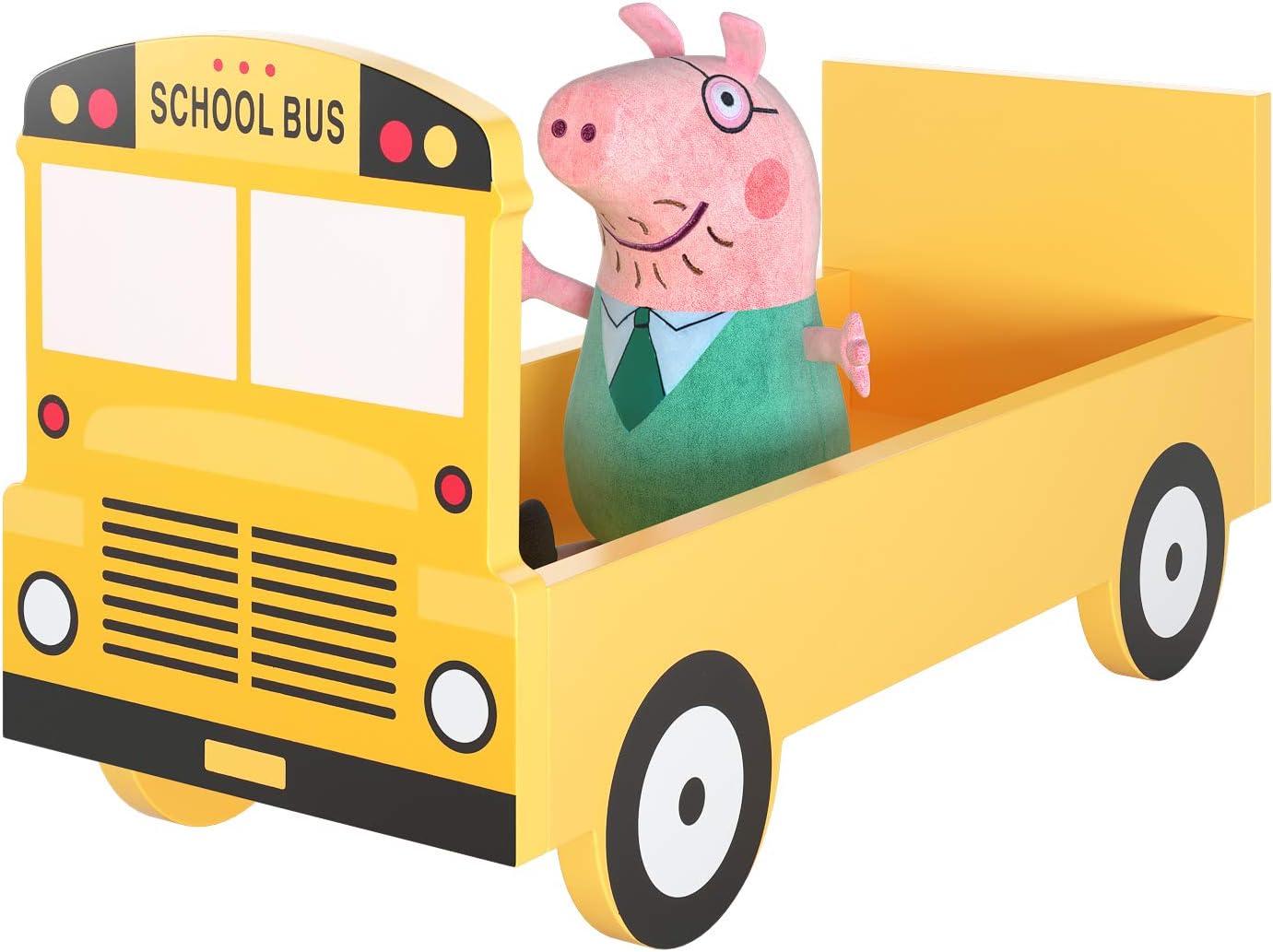 34.5 x 24 x 26.5 cm Libreria Porta Giochi Multifunzione per Bambini Rosso HOMECHO Giocattoli per Bambini Organizzatore di Stoccaggio Modello di Autobus a Due Piani