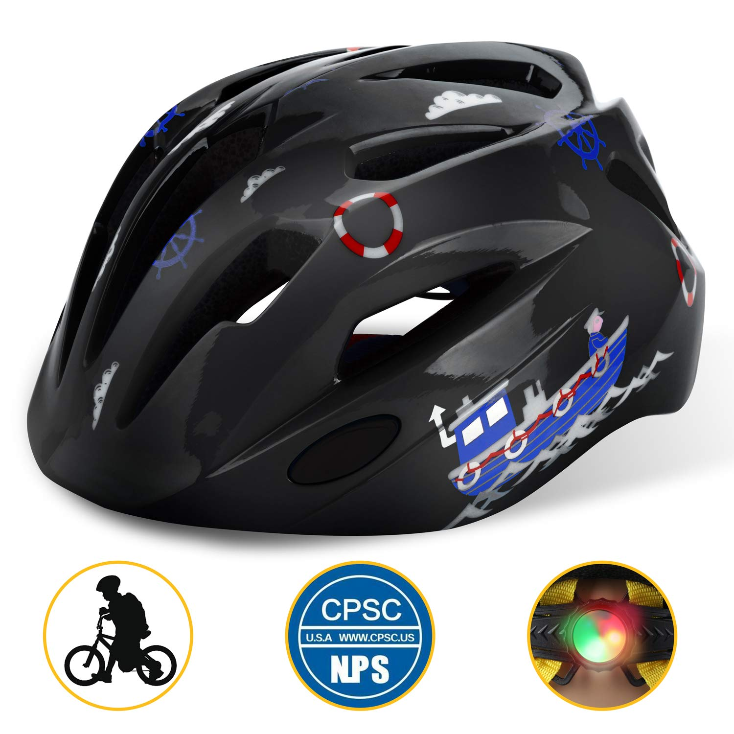 Basecamp Kids Bike Helmet, Children Multi-Sport Cycling Helmet CPC&CE  Certified 3D Cartoon Infant/Toddler Helmet for Boys and Girls  Riding/Skating